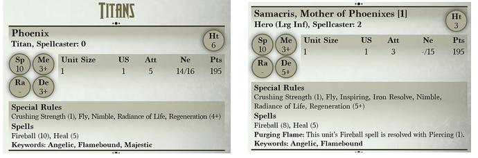 phoenix versus samacris